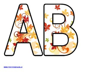 Free Printable Lettering Sets for Autumn / Fall Displays