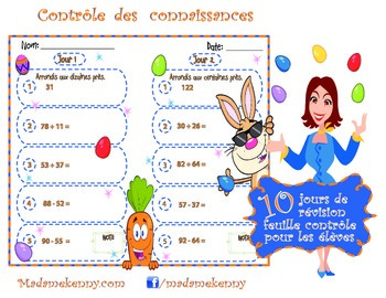 Free Printable Math Worksheets in French