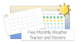 Free Printable Monthly Weather Tracker