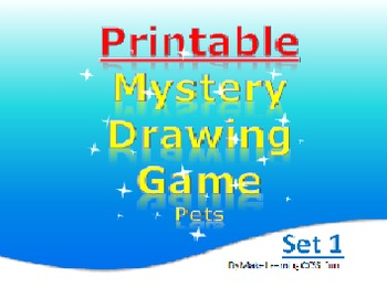 Printable Mystery Drawing Game for Elementary Any Subject