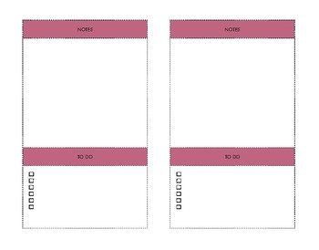 Free Printable Notes and To Do Raspberry