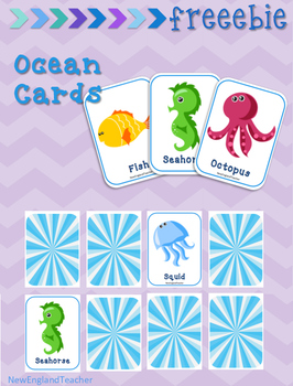 image regarding Free Printable Ocean Pictures identify Totally free Printable Ocean Matching Playing cards Memory Activity by means of