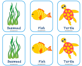 Free Printable Ocean Matching Cards & Memory Game