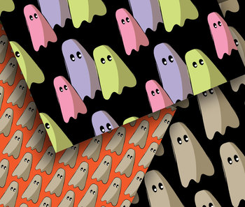"Free Printable Papers, Gaggle of Ghosts, 12, 12 x 12"" High Resolution  PDF"
