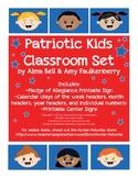 Free Printable Patriotic Kids Pocket Chart Calendar and Pledge of Allegiance