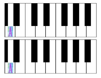 picture relating to Piano Keyboard Printable named Absolutely free Printable Piano Keyboard via Dynamic Discoveries Audio