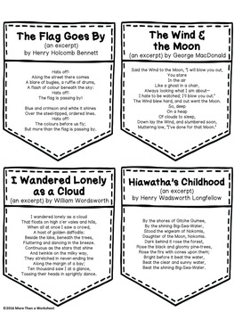 Free! Printable Poems for Poem in Your Pocket Day