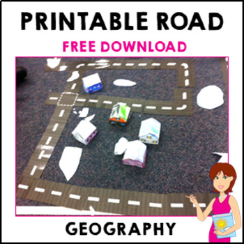 ** FREE DOWNLOAD ** Printable Roads for creating cities and towns