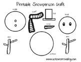 Free Printable Snowman Craft