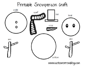 graphic about Printable Snowman Picture referred to as Cost-free Printable Snowman Craft