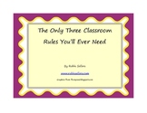 Free Printable: Solve Classroom Discipline with Three Clas