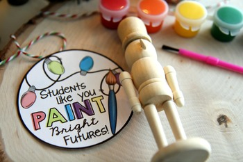 "Free Printable ""Students like you paint bright futures"" Tag"