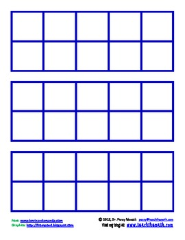 image relating to Ten Frame Printable named Free of charge Printable 10-Frames