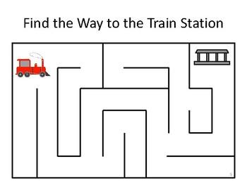 Free Printable Train Games
