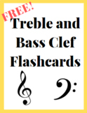Free Printable! Treble and Bass Clef Flashcards