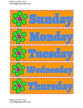 image about Days of the Week Printable identified as Free of charge Printable Tropical 7 Times of the 7 days Calendar PDF inside of
