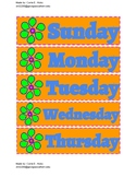 Free Printable Tropical 7 Days of the Week Calendar PDF in Color
