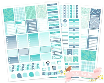 Free Printable Weekly Planner Stickers fits Erin Condren Planner