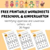 Free Printable Worksheets for Preschool & Kindergarten - Identifying Letters A-Z
