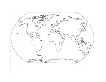 graphic relating to Free Printable World Map identify Absolutely free Printable Globe Map as a result of La Rana Hispana Instructors Spend