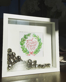 Free Printable for Christmas Box Frame with Bells