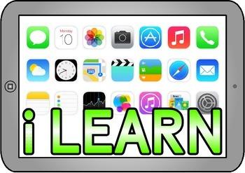 Free Printable iLEARN ipad themed teaching resource for Classroom Display