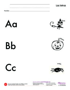 Free Printable in Spanish: abc