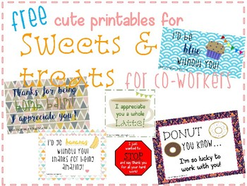 Free Printables for Sweets & Treats for Coworkers