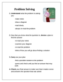 Free Problem Solving Instructions for Students