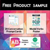 Free Product Sample - Conversation Cards and Modal Verbs Poster
