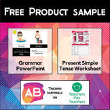 Free Product Sample - English Grammar PowerPoint and Worksheet