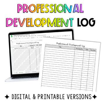 Free Professional Development Log