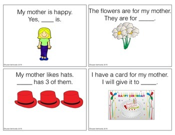 Free Pronoun Practice for Mother's Day Father's Day or Every Day Speech Therapy