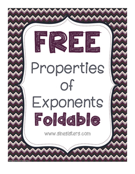 Free Properties of Exponents Foldable