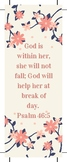 Free Psalm 46:5 Bookmark For Your Daughter