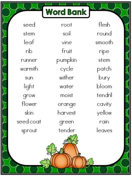 Free Pumpkin Life Cycle Writing Activity