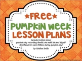 Free Pumpkin Week Activities