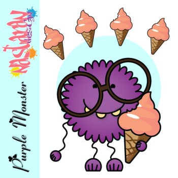 Free Purple Monster Clipart