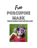 Free Purple Porcupine Mask Template