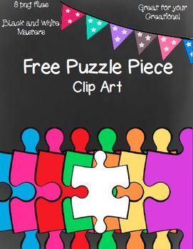 Free Puzzle Piece Clip Art ~ 8 png images