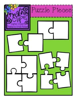 {Free} Puzzle Piece Templates {Creative Clips Digital Clipart}