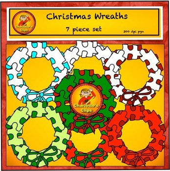 Free Puzzle Wreath Frames from Charlotte's Clips