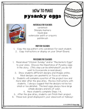 Free Pysanky Easter Egg Craft