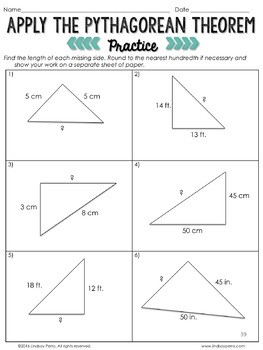 Free Pythagorean Theorem Lesson 8 G 7 By Lindsay Perro Tpt