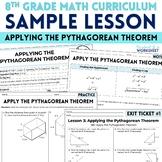 Free Pythagorean Theorem Lesson: Curriculum Sample
