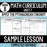 Free Pythagorean Theorem Lesson: 8.G.7