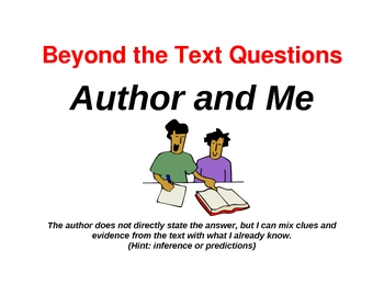 Free QAR Question-Answer-Relationship Posters