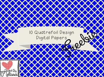 Free Quatrefoil Digital Paper Background