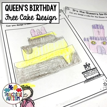 Free Queen's Birthday Cake Design