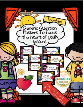 Questioning Phrases To Focus the Intent of Your Lessons {FREE}